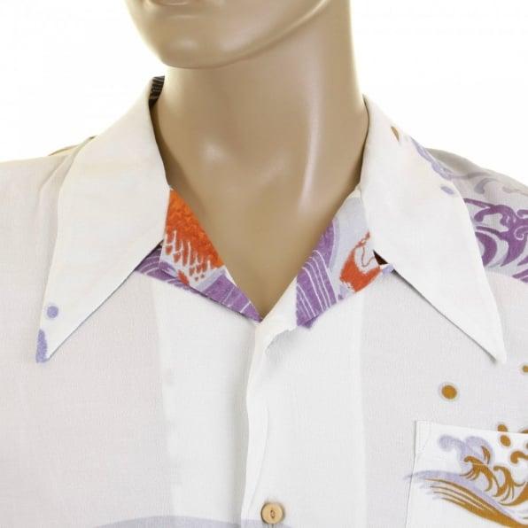 RMC JEANS Mens Short Sleeve Regular Fit Printed Shirt
