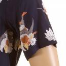RMC JEANS Mens Short Sleeve Regular Fit Shirt with Human Head Bird Body Print
