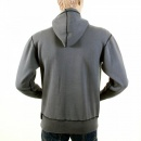 RMC JEANS Mens Slate Grey Over Head Large Fitting Hoody Sweatshirt