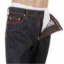 RMC JEANS Mens Slim Fit Dark Indigo Raw Denim Jeans
