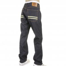 Mens Slim Fit Dark Indigo Selvedge Raw Denim Jeans