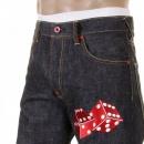 RMC JEANS Mens Super Exclusive Design Indigo Raw Denim Jeans with Slim Fit
