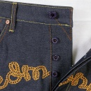 RMC JEANS Mens Super Exclusive Design Indigo Selvedge Raw Denim Jeans
