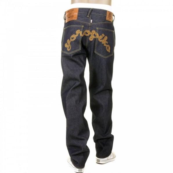 RMC JEANS Mens Super Exclusive Design Indigo Selvedge Raw Denim Jeans