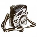 RMC JEANS Mens Unisex Black PVC Coated Canvas Despatch Bag