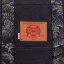 RMC JEANS Mens/Unisex denim leather shopper bag
