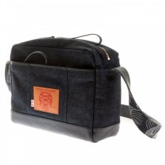 Mens/Unisex Denim with Leather Despatch Bag
