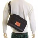 RMC JEANS Mens/Unisex Denim with Leather Despatch Bag