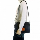 RMC JEANS Mens/Unisex Denim with Leather Despatch Bag