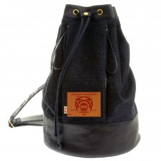 Mens/Unisex Denim with Leather Duffle Bag
