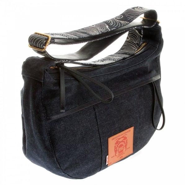 RMC JEANS Mens/Unisex Denim with Leather Shoulder Bag