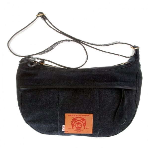 RMC JEANS Mens/Unisex Denim with Leather Shoulder Bag