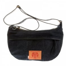 Mens/Unisex Denim with Leather Shoulder Bag