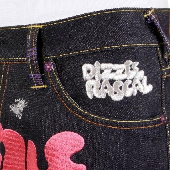 RMC JEANS Mens Vintage Cut Dark Indigo Raw Denim Jeans