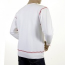 RMC JEANS Mens White Crew Neck Large Fitting Sweatshirt