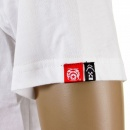 RMC JEANS Mens White Crew Neck Regular Fit Short Sleeve T-shirt with Camel Cigarette Packet Style Print
