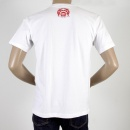 RMC JEANS Mens White Crew Neck Short Sleeve Regular Fit T-shirt