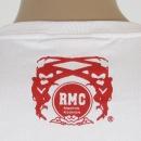 RMC JEANS Mens White Crew Neck Short Sleeve Regular Fit T-shirt