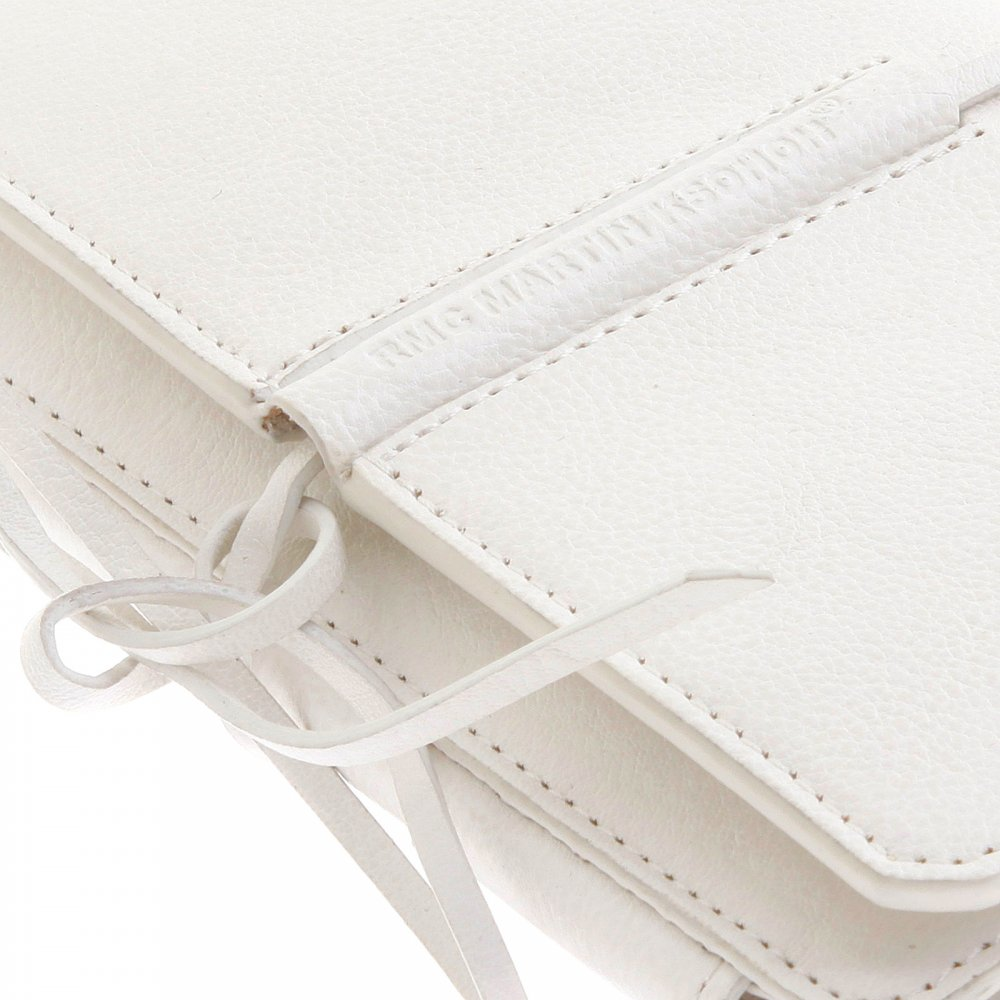 ... RMC JEANS Mens White Leather 3 Fold Credit Card Wallet ...