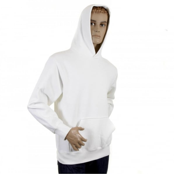 RMC JEANS Mens White Overhead Large Fitting Sweat Shirt