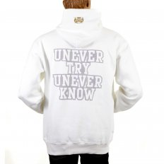 Mens White Overhead Large Fitting Sweatshirt