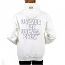 RMC JEANS Mens White Overhead Large Fitting Sweatshirt