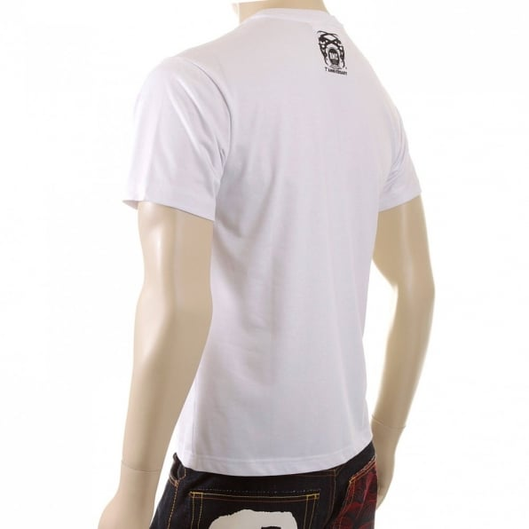 RMC JEANS Mens White Short Sleeve Regular Fit T-shirt with Crew Neck