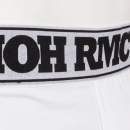 RMC JEANS Mens White Stretch Cotton Trunks with Tsunami Waves Design