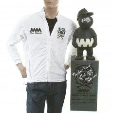 Mens White Trooper Jacket with Glow in Dark Presentation Model Toy