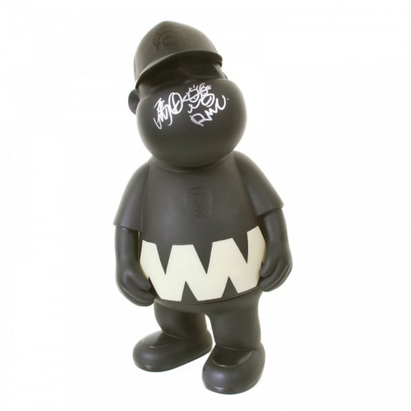 RMC JEANS Mens White Trooper Jacket with Glow in Dark Presentation Model Toy