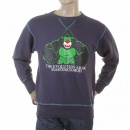 RMC JEANS Navy Blue Crew Neck Large Fitting Sweatshirt for Men
