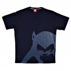 Navy Blue Regular Fit Crew Neck T-Shirt with Brand Monkey Head Print