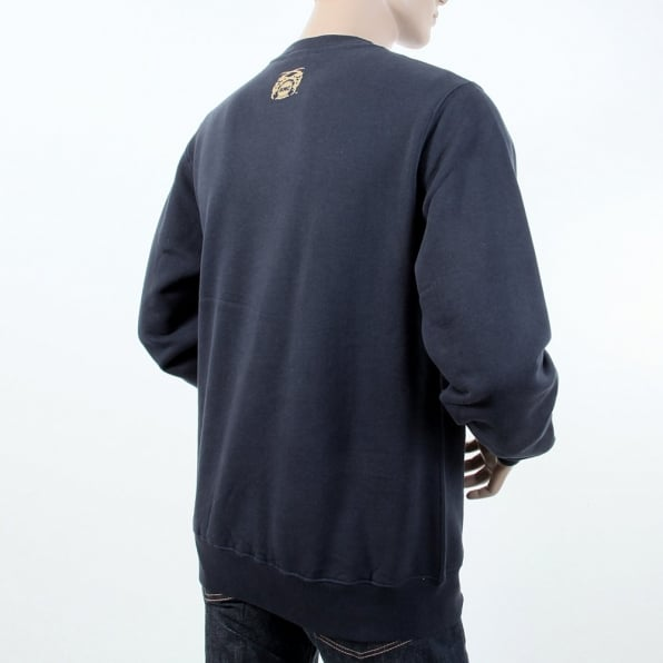 RMC JEANS Navy Crew Neck Large Fitting Sweatshirt for Men