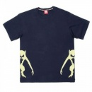 RMC JEANS Navy Crew Neck Regular Fit T-Shirt with Printed Half Monkeys