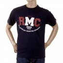 RMC JEANS Navy Crew Neck Short Sleeve Regular Fit T-shirt for Men