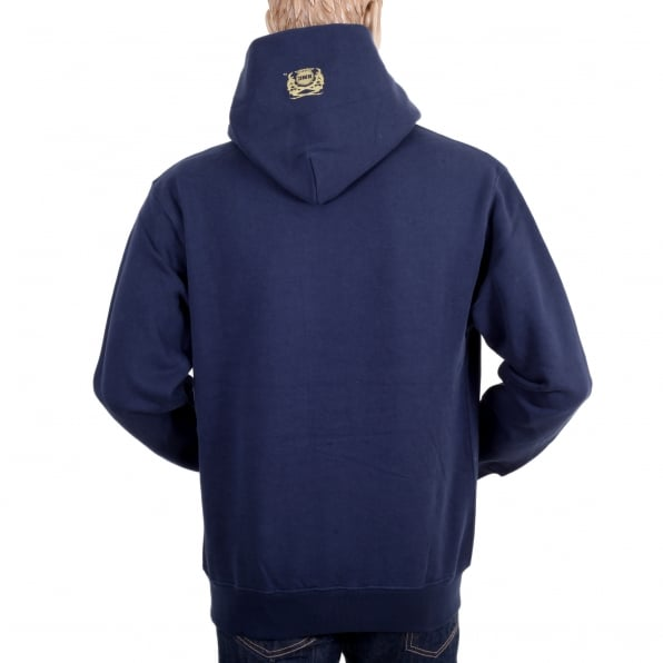 RMC JEANS Navy Long Sleeve Sweatshirt Silver Logo Hoodie