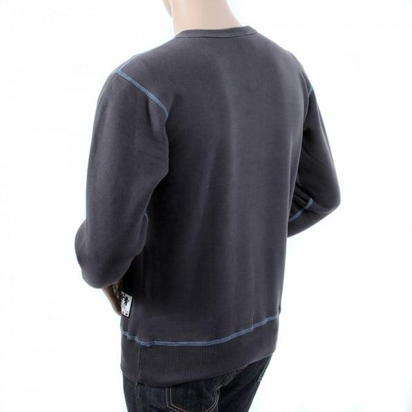 RMC JEANS Navy Untunk Crew Neck Large Fitting Sweatshirt for Men