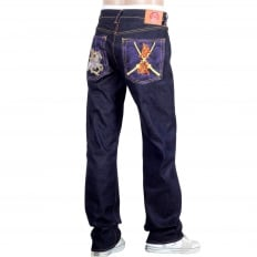 Oroginal Cut Horse and Sword Dark Indigo Raw Denim Jeans
