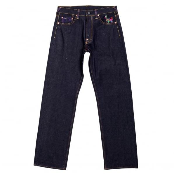RMC JEANS Oroginal Cut Horse and Sword Dark Indigo Raw Denim Jeans
