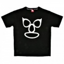RMC JEANS Printed Mask Black Crew Neck Regular Fit Short Sleeve T-Shirt