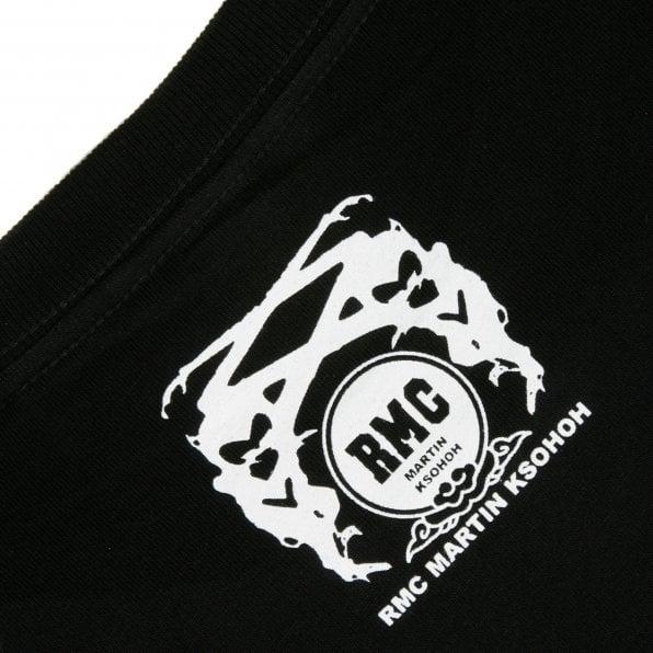 RMC JEANS Printed Mask Black Crew Neck Regular Fit Short Sleeve T-Shirt