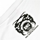 RMC JEANS Printed Mask White Crew Neck Regular Fit Short Sleeve T-Shirt
