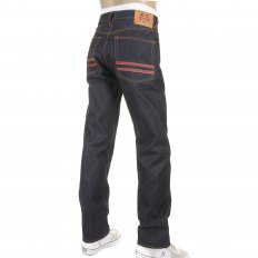 Red and Blue Selvedge Dark Indigo Raw Denim Jeans