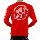 RMC JEANS Red crew neck long sleeve regular fit t-shirt