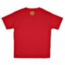 RMC JEANS Red Crew Neck Regular Fit Short Sleeve T-Shirt with Printed Crest RMC Logo