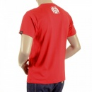 RMC JEANS Red Crew Neck Short Sleeve Regular Fit T shirt For Men with Poker Playing Card Print