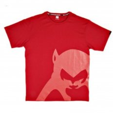 Regular Fit Crew Neck T-Shirt in Red with Brand Monkey Head Print