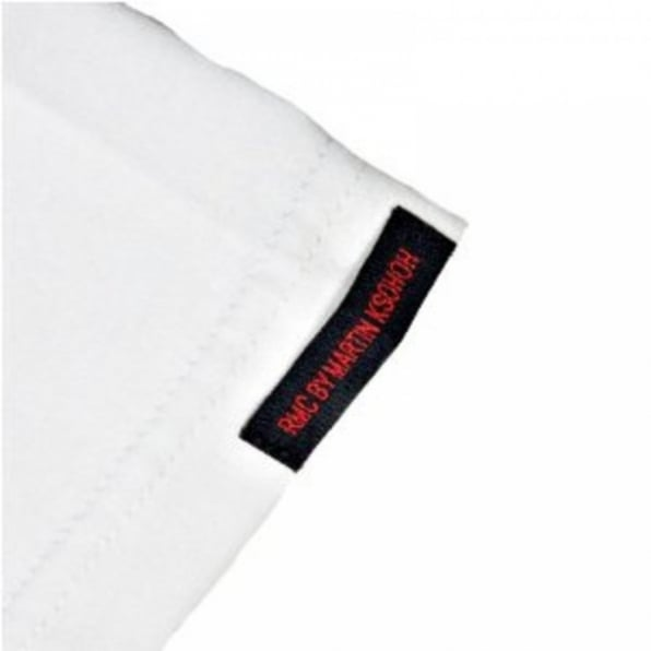 RMC JEANS Regular Fit White Crew Neck T Shirt with Brand Monkey Head Print