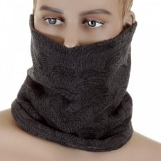 Reversible Head Warmer - Charcoal grey neck warmer snood