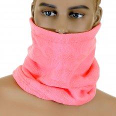 Reversible Head Warmer - Pink Neck Warmer Snood